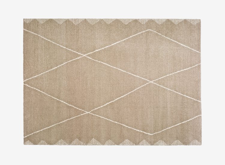 Tapis rectangulaire moderne marron ALCEE 160x230