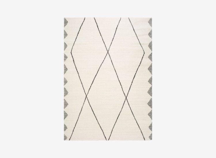 Tapis rectangulaire moderne beige AKES 120x170