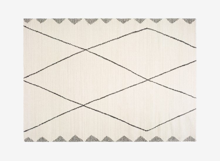 Tapis rectangulaire moderne beige AKES 160x230