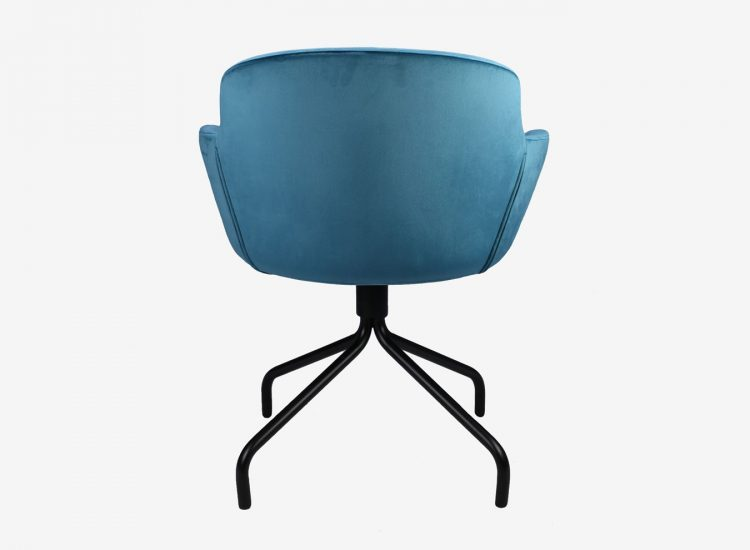 Fauteuil ISADORA velours turquoise face