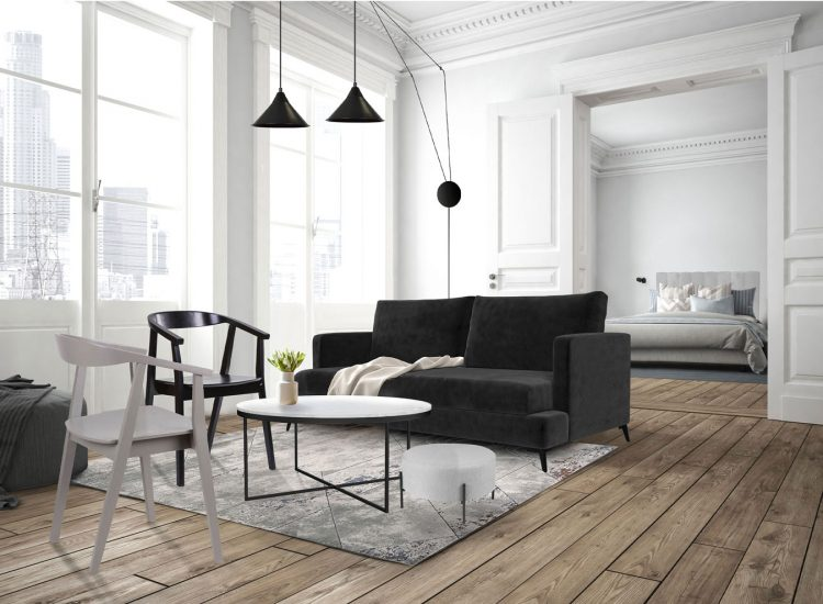 Pouf design JELLY Gris perspective