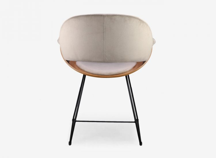 fauteuil Tama velours taupe